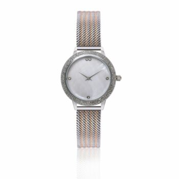SELONCE ANNIE ROSEWOOD Watch  Silver 10M1-RS14