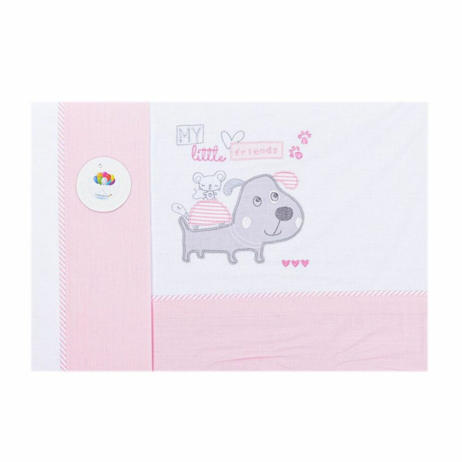 SELONCE LE PETIT GARCON BED SHEETS White-pink 21294-BLANCO-ROSA