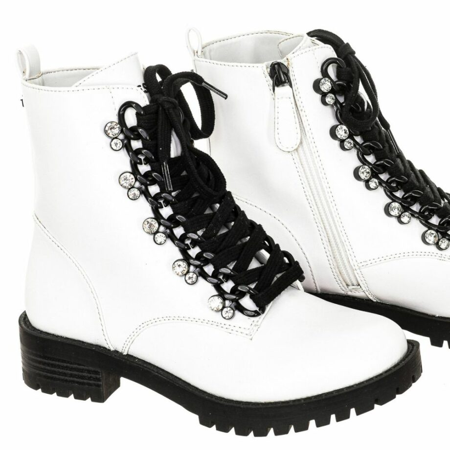 SELONCE GUESS WOMEN ANKLE BOOTS FL7HIEELE10-WHITE