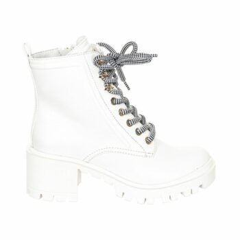 SELONCE GUESS WOMEN HIGH HEEL ANKLE BOOTS FL7MAYELE10-WHITE