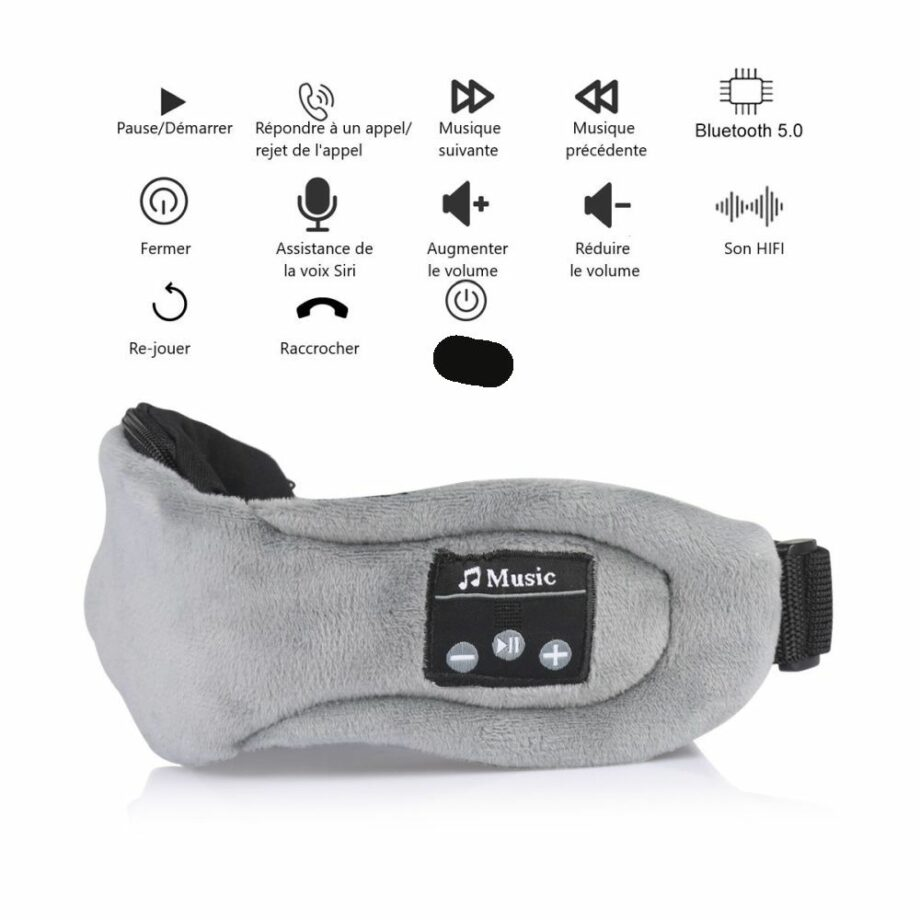 SELONCE ELITEACCESS SLEEPING MASK WITH INTEGRATED BLUETOOTH HEADPHONES MOBILE ACCESSORY AND TABLET HOM 005