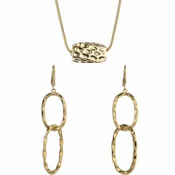 SELONCE ANNIE ROSEWOOD Neklace & Earrings Gold JSET009