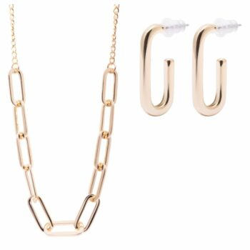 SELONCE ANNIE ROSEWOOD Necklace & earrings Gold JSET011