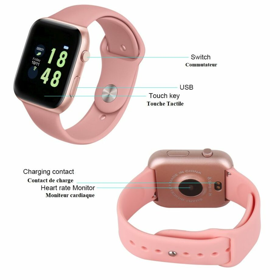 SELONCE ELITEACCESS MULTIFUNCTIONAL BLUETOOTH FITNESS WATCH iOS & ANDROID COMPATIBLE WATCH AND BRACELET WAC 86