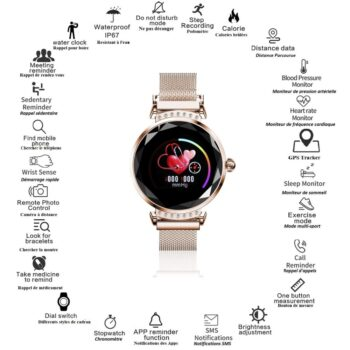 SELONCE ELITACCESS CONNECTED WATCH Fashion watch bluetooth gps multifunction ios & android compatible WAC 88