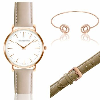 SELONCE ANNIE ROSEWOOD Set of Watch & Extra Strap & Bracelet Rose gold  WSET003