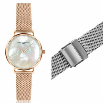 SELONCE ANNIE ROSEWOOD Set of Watch & Extra Strap Rose gold  WSET008