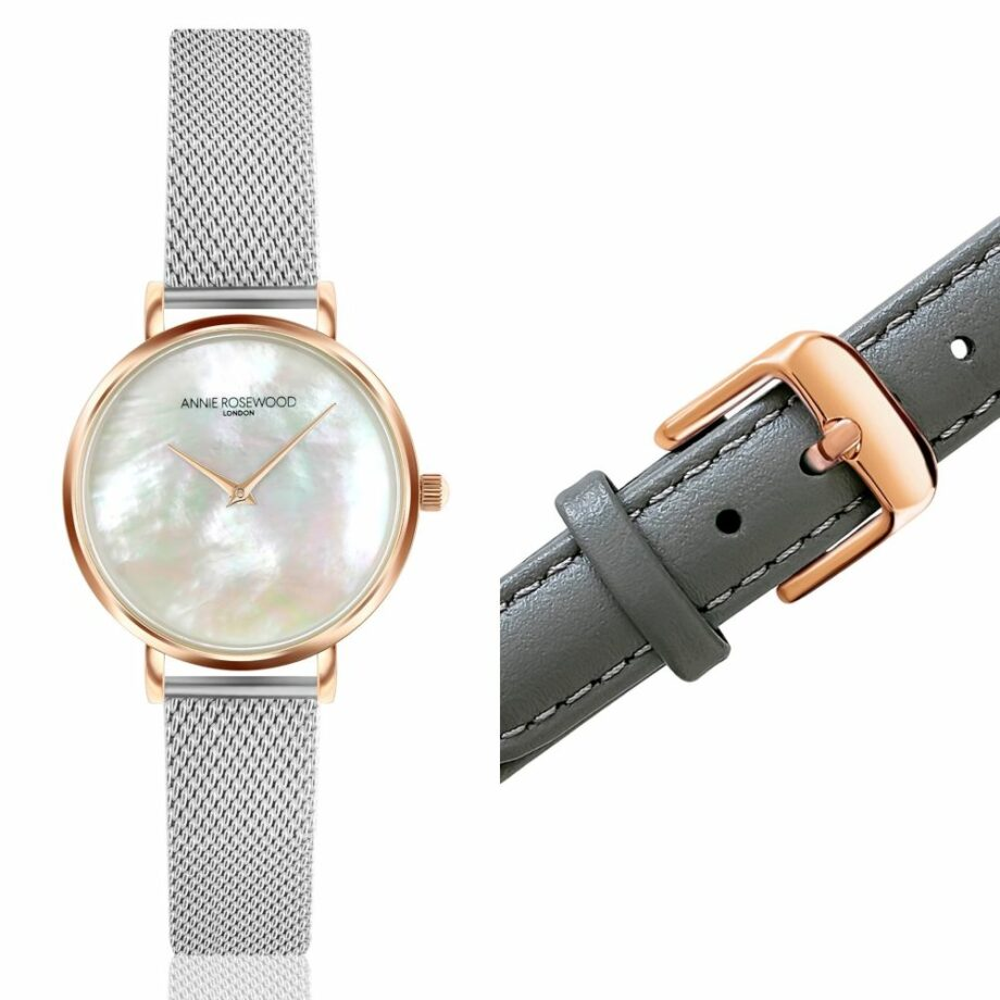 SELONCE ANNIE ROSEWOOD Set of Watch & Extra Strap Rose gold  WSET009