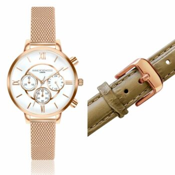 SELONCE ANNIE ROSEWOOD Set of Watch & Extra Strap Rose gold  WSET018
