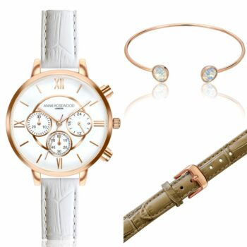 SELONCE ANNIE ROSEWOOD Set of Watch & Extra Strap & Bracelet Rose gold  WSET019